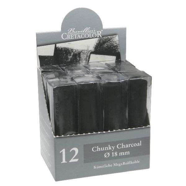 49500 Serisi Cretacolor Chunky Charcoal Kalın Kömür Füzen 18x80 mm.