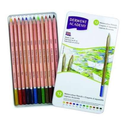 DERWENT ACADEMY WATERCOLOR SULU KURU 12'Lİ SET